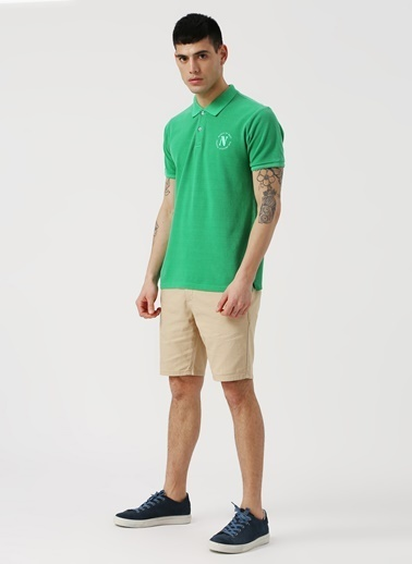 North Of Navy North Of Navy Baskılı Yeşil Düz Polo T-Shirt Yeşil